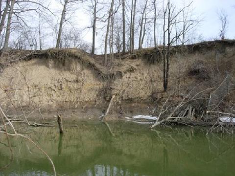Erosion of Kingfisher Bluff