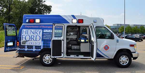 The HFC ambulance from the side.