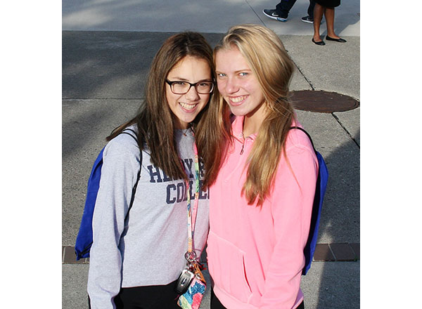 Divine Child High School students Ashley Chmura and Hannah Nowak enjoyed Discover Day.