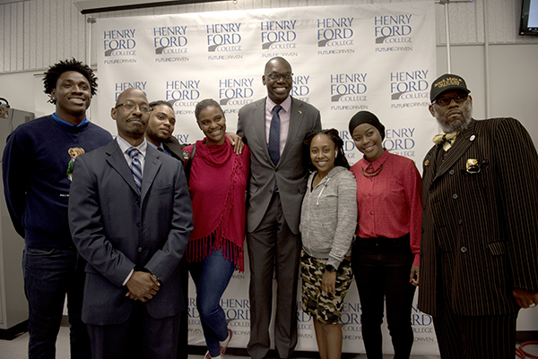 Lt. Gov. Gilchrist met with students and leaders of the Black Male and QUEENS Focus Group