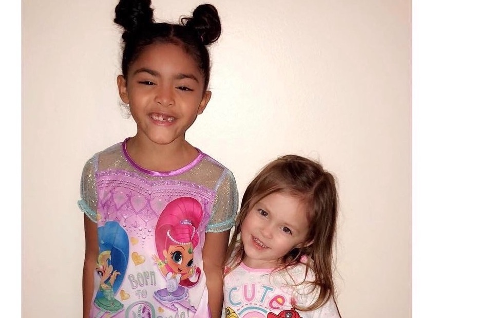 L-R Sarenity (Age 7) and Aurora (Age 3).