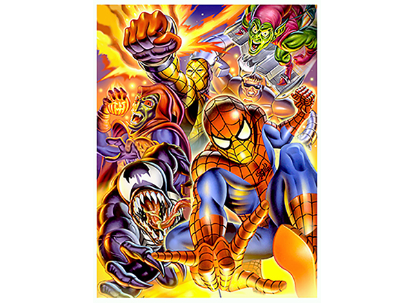 Gary Ciccarrelli's rendition of Spider-Man and his rogues gallery.