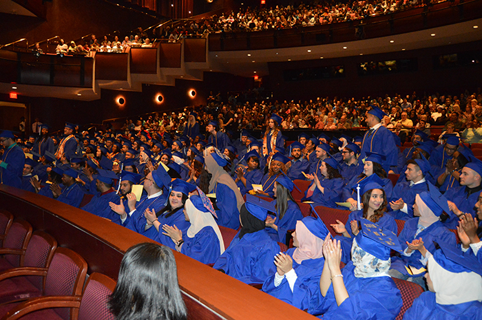 Happy graduates and families