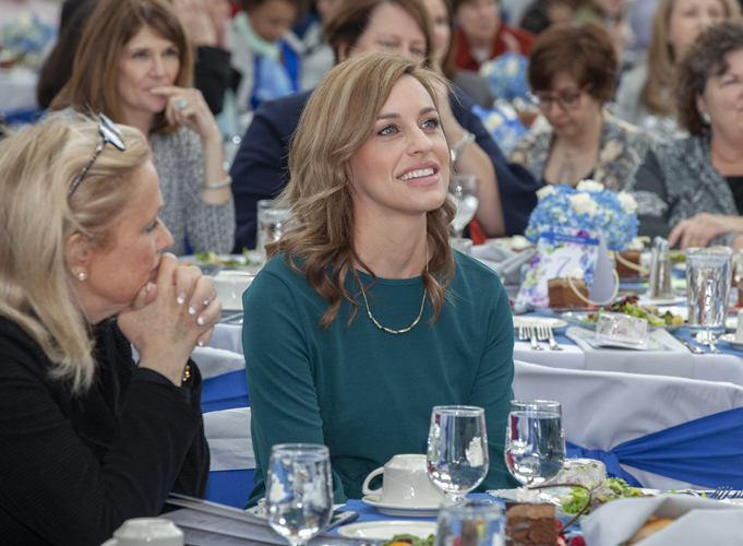 Courtney Kavalhuna, right, seated next to Debbie Dingell, was a special guest at the luncheon.