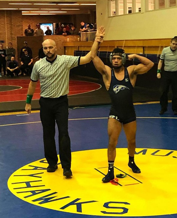 HFC grappler Donte Rivera-Garcia was named MCCAA Wrestling Freshman of the Year.