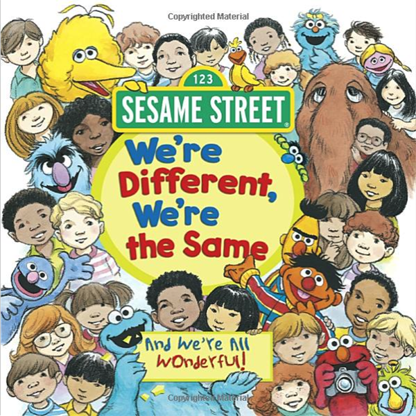 """Book cover, """"We're Different, We're the Same"""""""