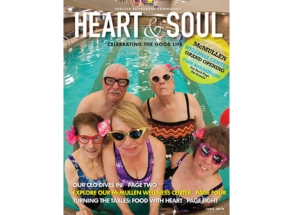 """HFC graphic design instructor Margaret Kelly launched """"Heart & Soul Magazine"""" for the Chelsea Retirement Community in an effort to fight aging stereotypes."""