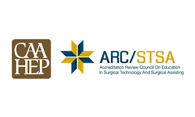 CAAHEP and ARC/STSA Accreditation Logos