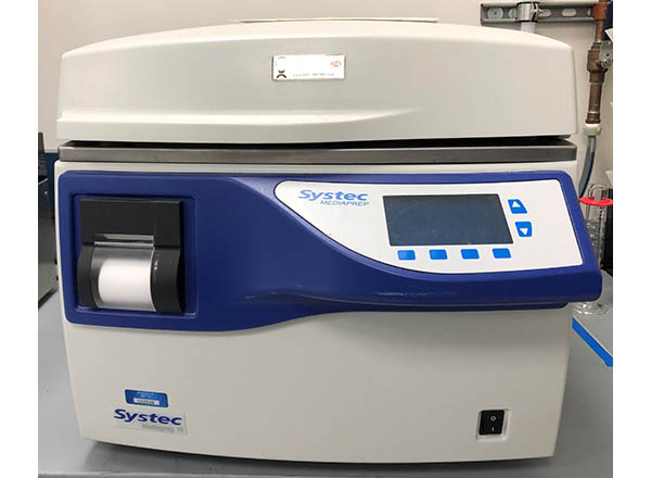 Through NSF International, HFC alumnus Atwain Atwain is donating a Systec MediaPrep, an automatic process that mixes, heats, and sterilizes agar media.