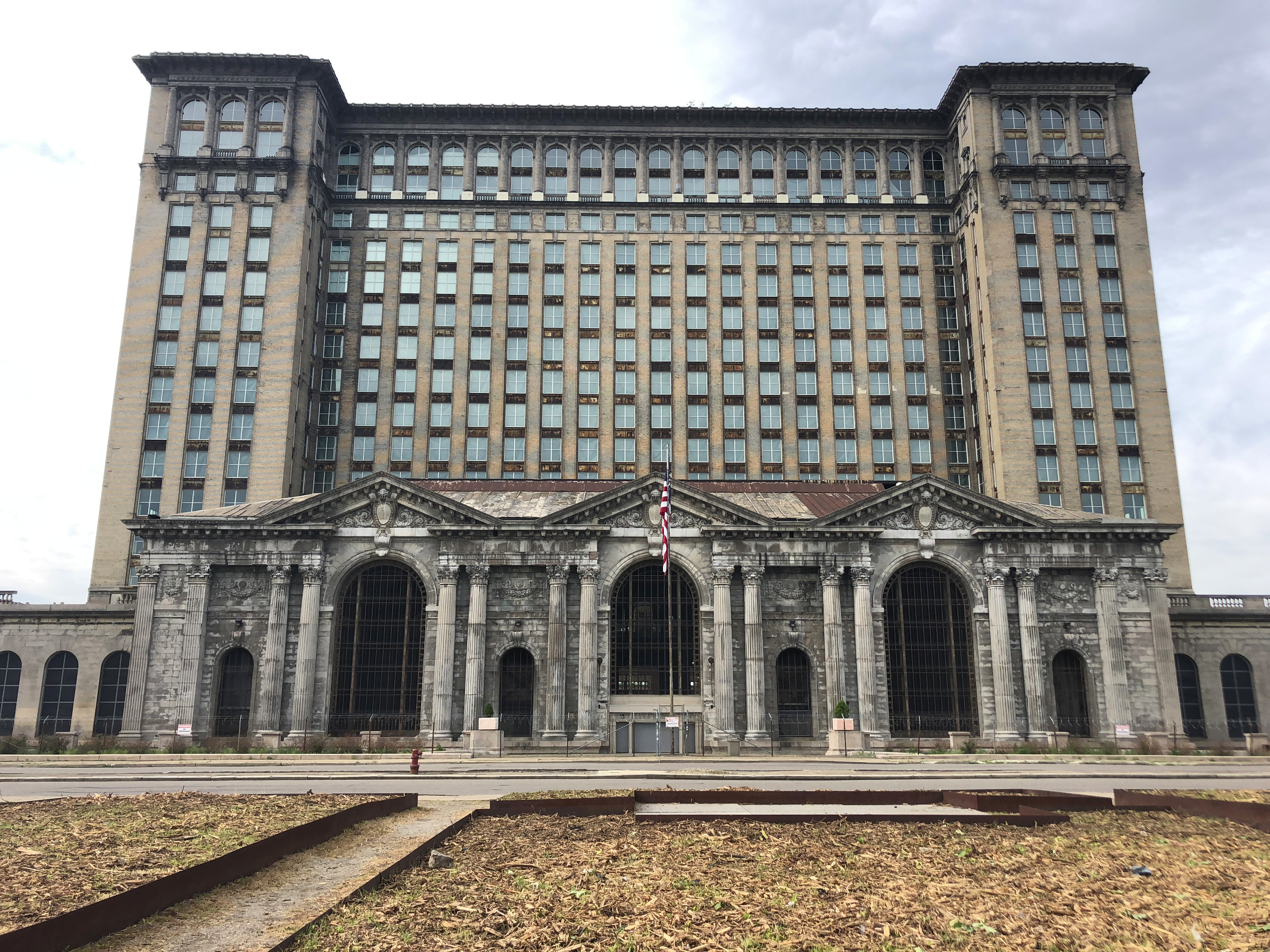 """Photo of Michigan Central Station taken by Sarah Williams for her award-winning story: """"Hope has not left the station."""""""