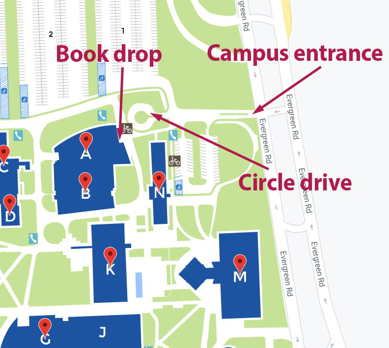 Book drop map
