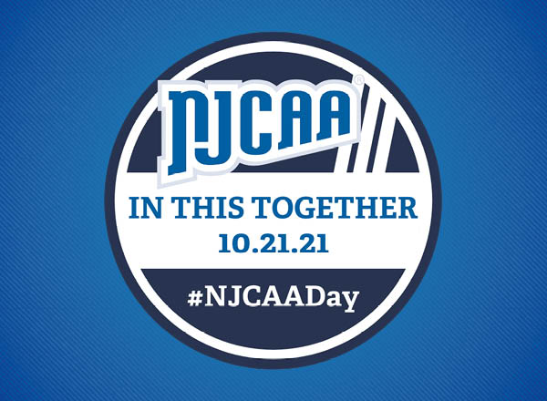 The NJCAA Day logo on a blue gradient background.