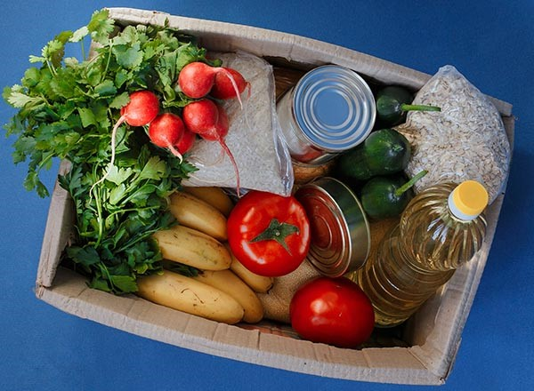 photo of food in a box