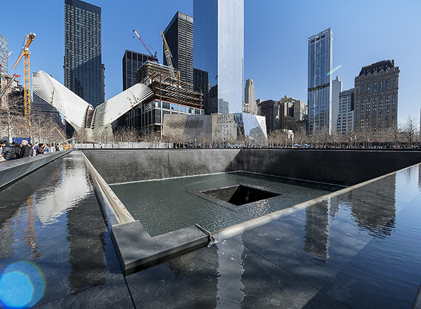Photo of 9/11 Memorial in New York City