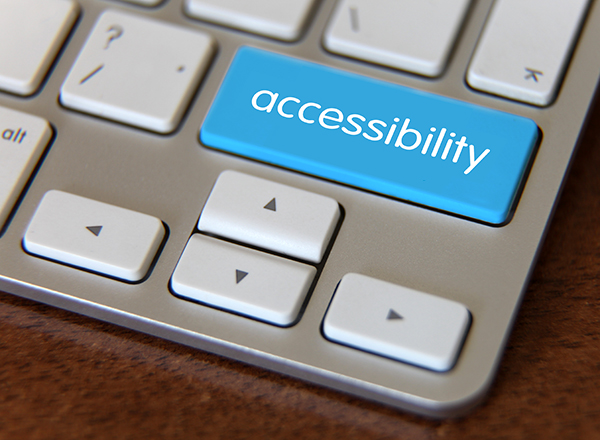 """Keyboard with """"accessibility"""" key added"""