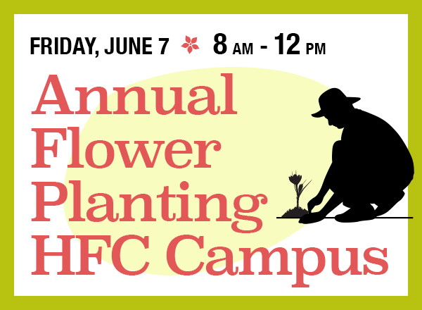 Annual Flower Planting on Campus graphic