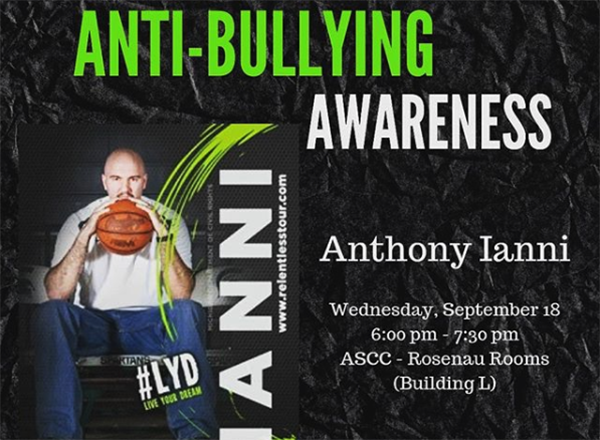 MSU basketball alumnus Anthony Ianni is one of the nation's most sought-after anti-bullying advocates.