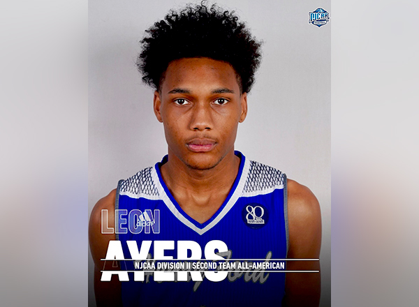 Leon Ayers, who played for the Hawks for the last two seasons, was recently named to the NJCAA Men's Basketball Division II Second Team All-American.