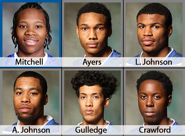 Six basketball players