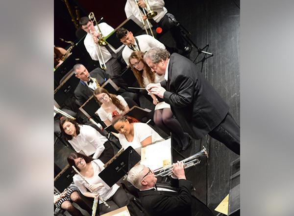 Rick Goward directs the Big Band