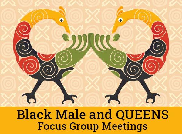 Black Male and QUEENS Focus Group Adinkra Sankofa graphic