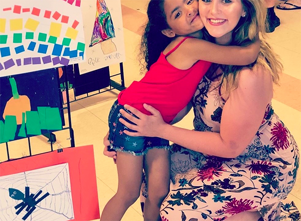 Former HFC Student Chelsea Dye and her daughter, Sarenity.