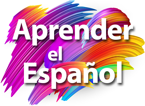 colorful background with the words Aprender el Español