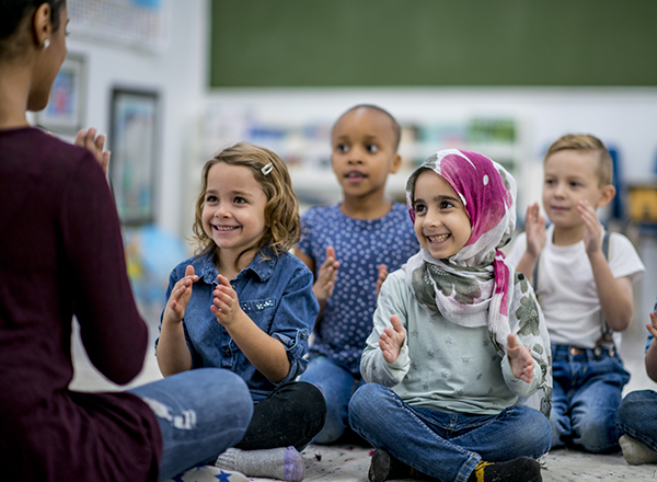 Young children in a classroom setting