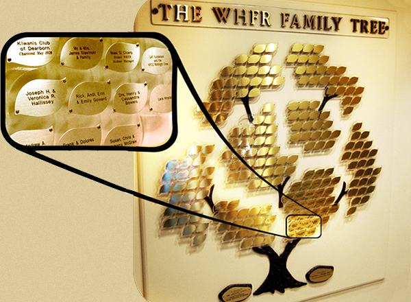 An image of WHFR's family tree.