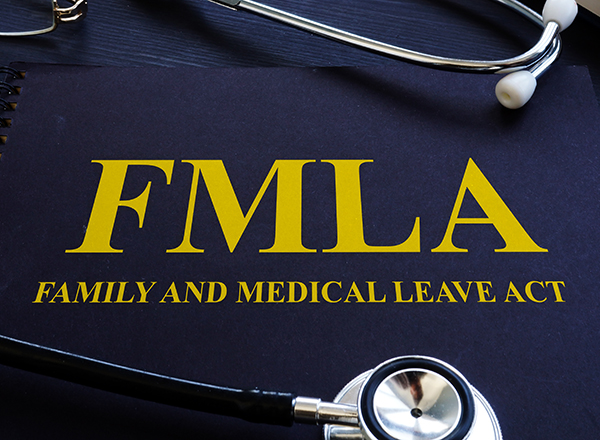 FMLA book cover with stethoscope