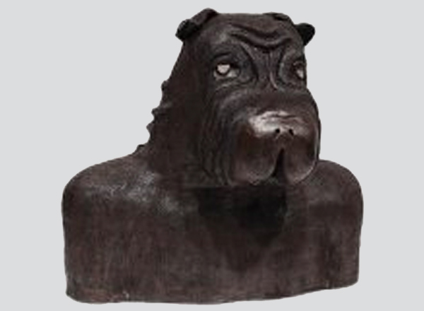 """""""Good Boy,"""" sculpted by HFC student Shanzae Malik, won third place in the 3-D category at this year's LAND Conference. It was inspired by her Shar-Pei dog, Tuka."""