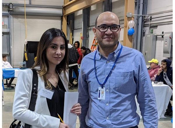 Photo of Hana Beydoun with Hassan Nameghi
