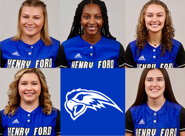 Headshots of five Hawks players