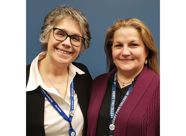 Photo of Kristin Olin-Sullivan and Vicky Bessette