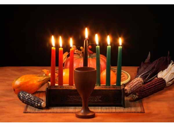 Photo of Kwanzaa candles