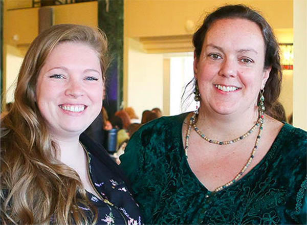 Stephanie Arredondo (left) and Clare Durina (right) are two members of the first graduating cohort of HFC's Lactation Consultant program, which began in the Fall 2019 Semester.