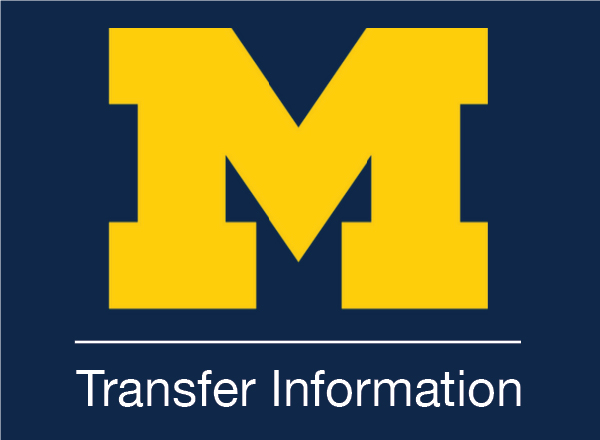 An image of the U of M logo with Transfer Information below it.
