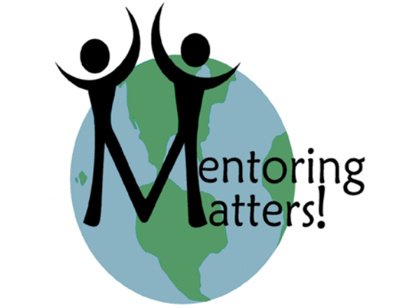 Mentoring Matters on a vector image of two stick figures