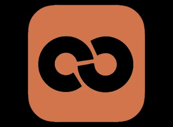 Moodle logo on black background