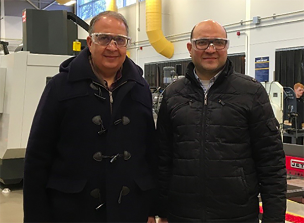 Photo of Hassan Nameghi and Ghassan Kridli of UM-Dearborn