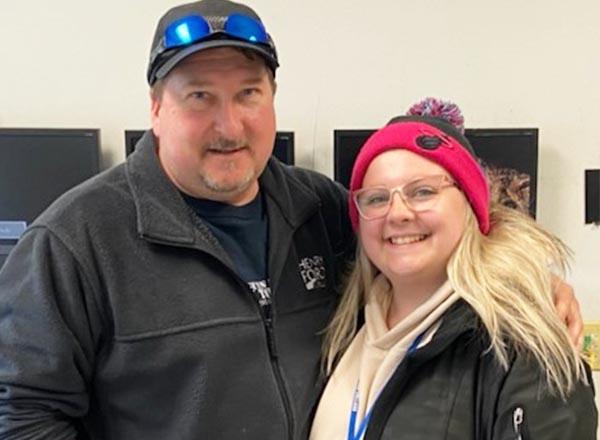 An image of Rick Hatala and Hannah Hatala.