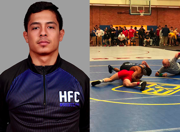 HFC wrestler Donte Rivera-Garcia is the first Hawk to win at the Adrian Invitational at Adrian College and the second Hawk to win at the Ben McMullen Open at Muskegon Community College.