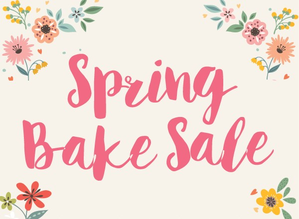 spring bake sale graphic
