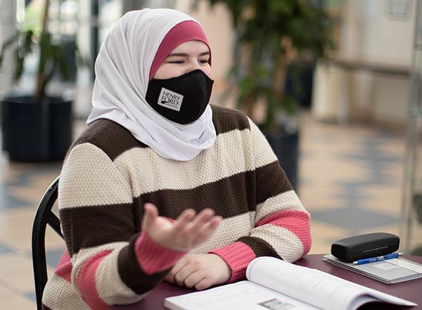 HFC student wearing face masks