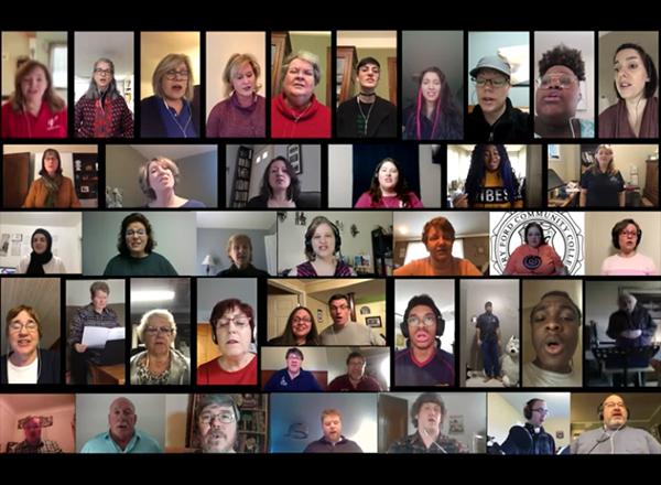Photos of virtual chorus singers