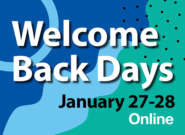 Welcome Back Days graphic