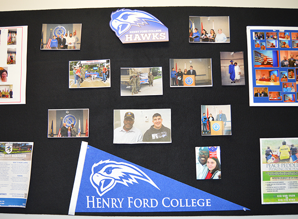 One of two photo boards in the Veterans Center.
