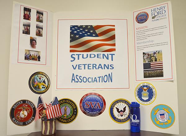 The SVA photo board in the Veterans Center.