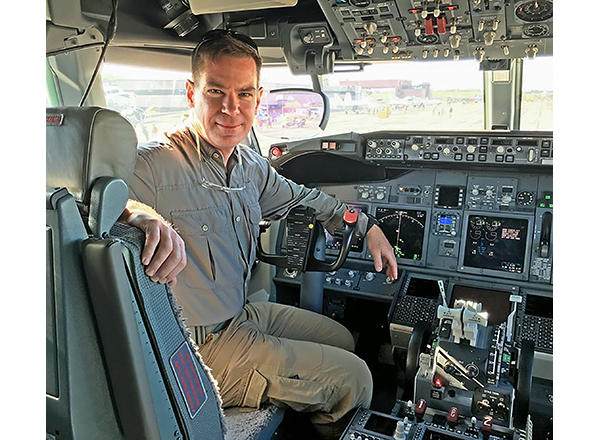 Tom Demerly in the cockpit