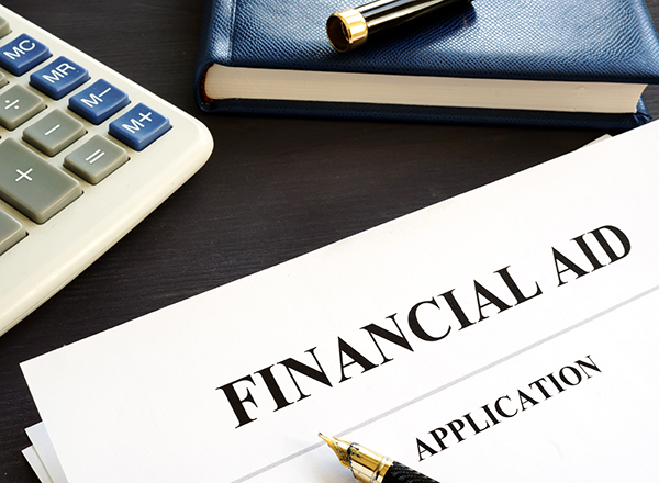 Financial aid form and calculator